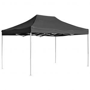 VidaXL Tente de réception pliable Aluminium 4,5x3 m Anthracite