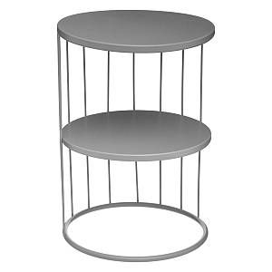 "Atmosphera Table d'Appoint Design Métal ""Kobu"" 36cm Gris"