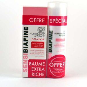 Biafine Sensibiafine - Coffret visage baume ultra nourrisant + Lait Démaquillant