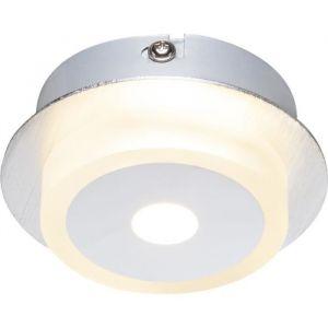 Globo Lighting GLOBO Spot Nickel mat L15 x l9,7 cm - Applique aluminium chrome - acrylique satiné - A:100 - H:40 - Ampoule incluse - 1xLED 5W 230V