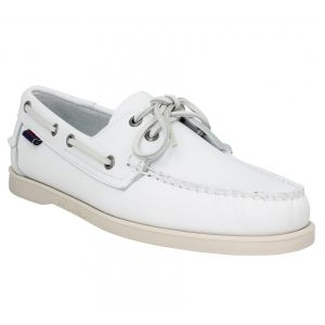 Sebago Docksides FGL, Chaussures Bateau Hommes, Blanc (White 911), 45 EU