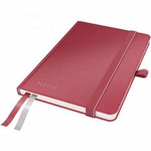 Leitz 4479-00-25 - Carnet broché Complete A6, 160 pages ivoire 96 g/m² quadrillées 5x5, élastique de fermeture, couv. rigide rouge