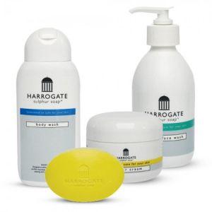 Harrogate Pack au soufre - Soin de la peau 4 produits