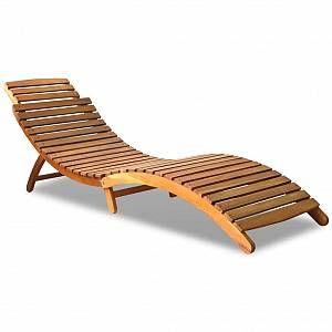 VidaXL Chaise longue Bois d'acacia massif 190 x 60 x 51 cm Marron