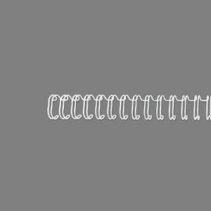 GBC 100 peignes métalliques (diamètre 6,3 mm)