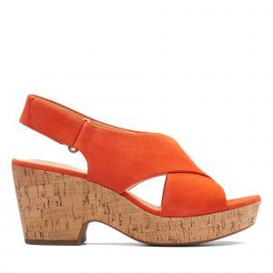 Clarks Maritsa Lara velours Femme-39-Orange