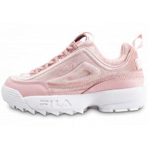 FILA Disruptor 2 Premium Velours Rose Femme 40 Baskets