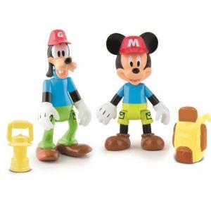 IMC Toys 2 figurines Mickey & Dingo à l'aventure