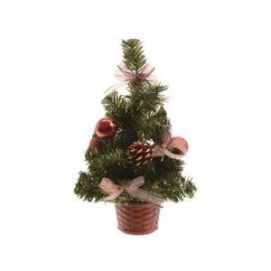 Sapin de Noël artificiel de table décoré (25 cm)