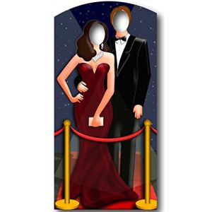 Passe-tête couple Hollywood (186 cm)