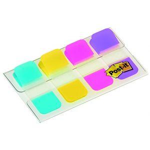 Post-It 40 mini marque-pages rigides format 1,58 x 3,8 cm - couleurs vives