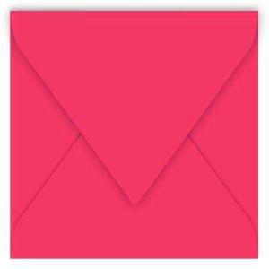Clairefontaine 12024C - Enveloppe Pollen 120x120, 120 g/m², coloris rose fuchsia, en paquet cellophané de 20