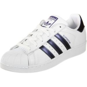 Adidas Superstar, Baskets Femme, Blanc (Footwear White/Purple Night Metallic/Footwear White 0), 36 2/3 EU