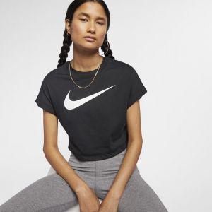 Nike Haut courtà manches courtes et logo Swoosh Sportswear pour Femme - Noir - Taille M - Femme