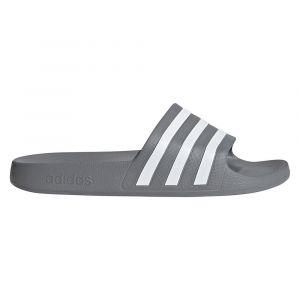 Adidas Sandales Adilette Aqua - UK 12 Gris/Blanc Tongs
