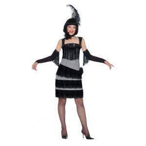 Déguisement charleston robe noire et grise