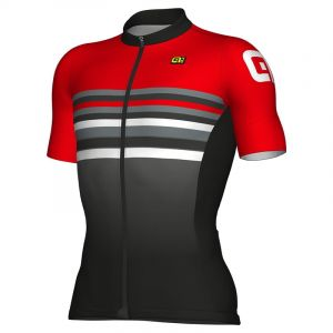 Alé Cycling Formula 1.0 Stripe - Maillot manches courtes Homme - rouge/noir L Maillots route