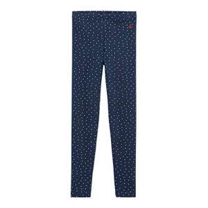 Petit Bateau BICOEUR, Legging Fille, Bleu (Haddock/Multico 05), 4 Ans (Taille Fabricant:4A)