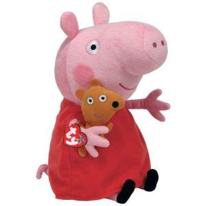 Ty Peluche Peppa Pig : Peppa and Teddy 25 cm