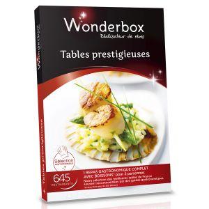 Wonderbox tables prestigieuses coffret cadeau 645 - Wonderbox table prestigieuse ...
