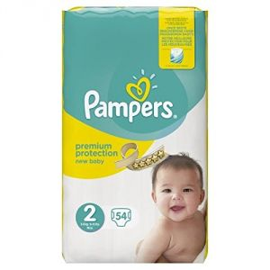 Image de Pampers New Baby taille 2 (3-6 kg) - 54 couches