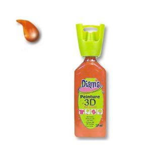 Diam's Peinture - 3D - Mandarine Brillant - 37 ml