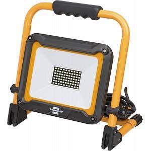 Brennenstuhl Projecteur portable LED JARO 5000 (Projecteur chantier avec Support Aluminium, 4770 Lumens, 50W, Câble 5M, Intérieur et Extérieur IP65), Jaune & Noir
