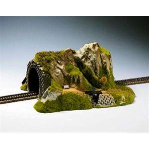 Noch 02200 - Modélisme Ferroviaire - Tunnel Droit - 1 Voie - 34 X 27 X 16 Cm