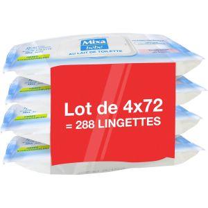 Mixa bébé Lingettes au Lait de Toilette x72