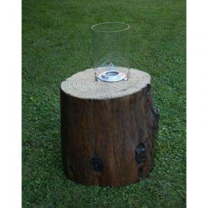 Ezeïs Mangareva D53 x H51 cm - Cheminée éthanol effet tronc de bois brut