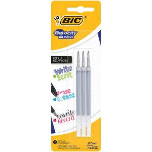Bic Lot de 3 recharges Gel-Ocity Illusion