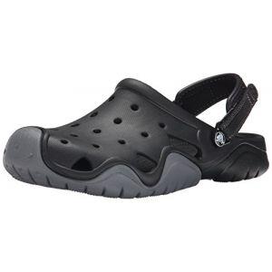 Crocs Swiftwater Clog Men, Sabots Homme,Noir (Black/Charcoal), 39-40 EU
