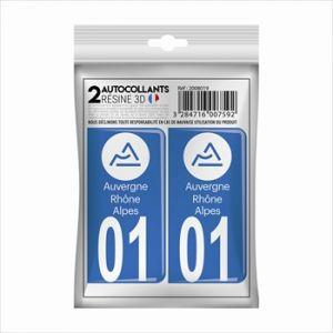 Cadox 2 Stickers En 3d Département Ain 01