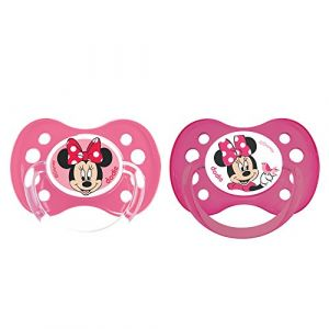Dodie 2 sucettes anatomiques Minnie silicone 6 mois +