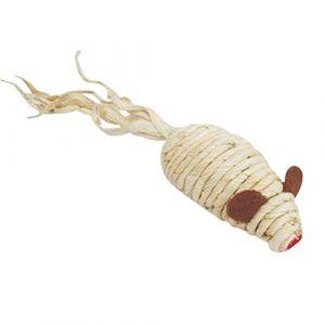 Codico Jouet pour chat - Souris avec grelot -Sisal - Écru - 7cm