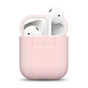 Elago Étui Compatible avec Apple AirPods 1 & 2 (Témoin LED Visible) en Silicone Non-Toxique Anti-Rayures Plus de Protection - Rose (, neuf)