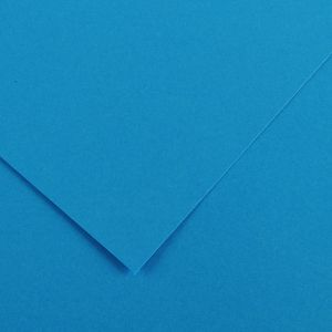 Canson 200040059 - Feuille Iris Vivaldi 50x65 120g/m², coloris bleu azur 22