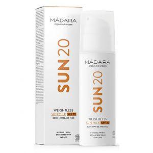 Mádara Sun20 Weightless Sun Milk - 150 ml - SPF 20