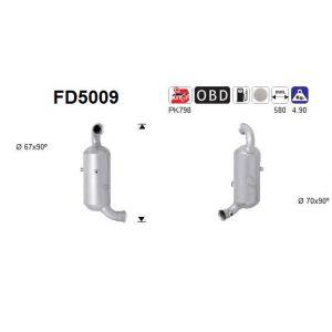 AS Filtre à particules / à suie, échappement FD5009