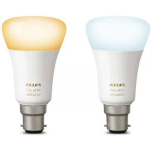 Philips Ampoule Pack x 2 B22 White&Ambia - 929001200261
