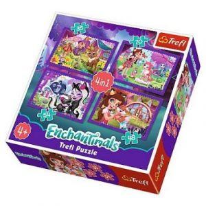 Trefl 4 Puzzles - Enchantimals