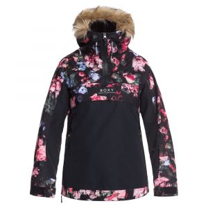 Roxy Shelter-Veste de Snow pour Femme Ski, True Black Blooming Party, FR : M