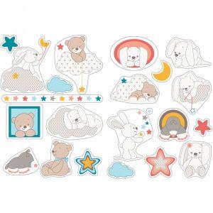 Nattou Stickers lapin et ours Mia & Basile