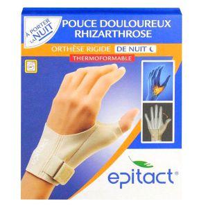 Epitact Orthèse rigide de nuit pour pouce main droite (Taille M)