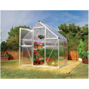 Habitat et Jardin Multiline - Serre en polycarbonate 2,3 m² (1,85 x 1,26 x 2,08 m)
