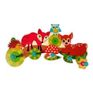 Hess-Spielzeug 30303 - Porte-manteau Animaux de la forêt