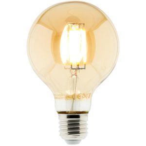 Conforama Ampoule LED Déco filament ambrée 6W E27 Globe - ELEXITY