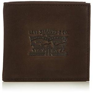 Levi's Portefeuille italien 2 volets Vintage Two Horse en cuir marron à porte-monnaie