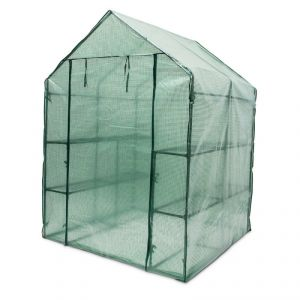1613012 - Serre de jardin métal 2 m2 (140 x 190 x 140 cm)