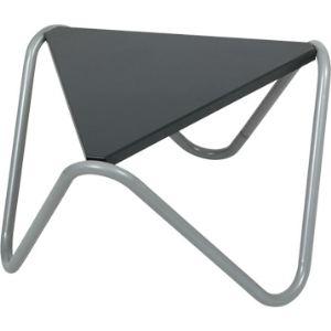 Lafuma Table basse de jardin triangulaire Vogue en acier 57 x 57 x 57 x 33 cm